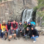 Our research group at Rainbow Falls near the Devils Postpile National Monument.